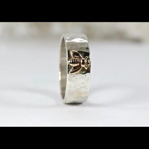 Jewelry - Honey Bee Ring, Sterling Silver and Gold